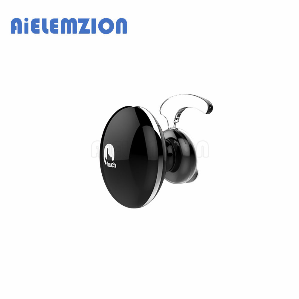 Smart Touch Bluetooth Earphones Wireless Mini Earbuds Stereo Noise Cancelling Headsets With Microphone Support Voice Prompt 2016 white and black joway h 08 wireless noise cancelling voice control sports stereo bluetooth v4 0 earphones with microphone