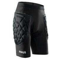 新しいサッカーゴールキーパーショーツメンズ肥厚包括的な保護スポンジ短い