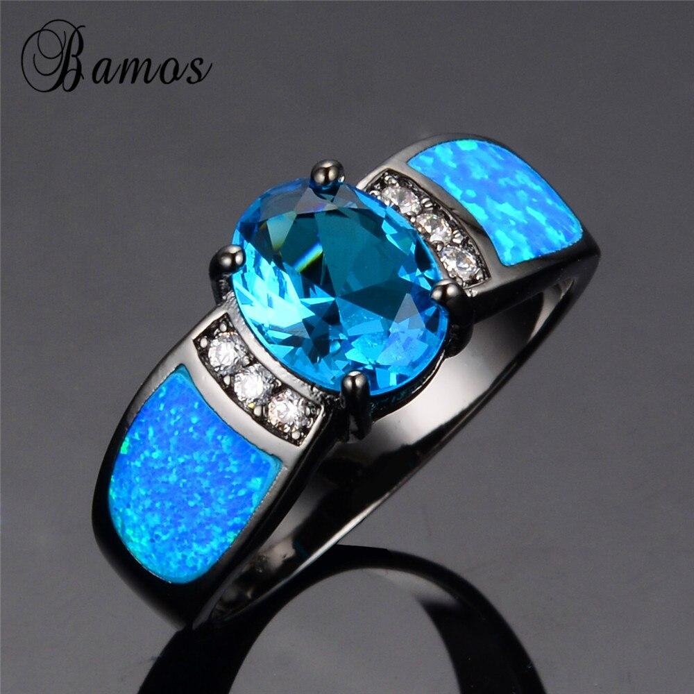 bamos jewelry wedding blue opal rings black