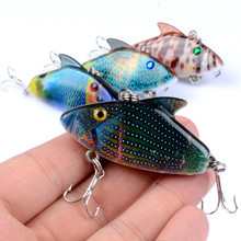 1Pcs 5.5cm/7.9g 3D Painting Lifelike VIB Floating Fishing Lure Hooks Fish Wobbler Tackle Crankbait Artificial Japan Hard Baits
