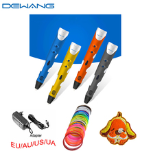 The world`s first best printing Dewang drawing highlighter Blue 3d pen 20colors 5m ABS filament Arts for kids free shipping the world s best sailboats – volume 1
