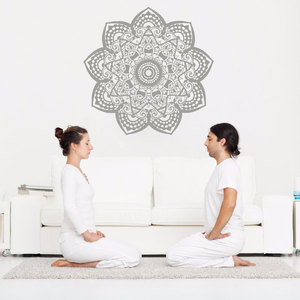 Image 1 - Mandala Wall Decal Removable Vinyl Om Sign Wall Sticker Yoga Studio Wall Art Mural Home Decoration Bohemian Boho Art MTL16