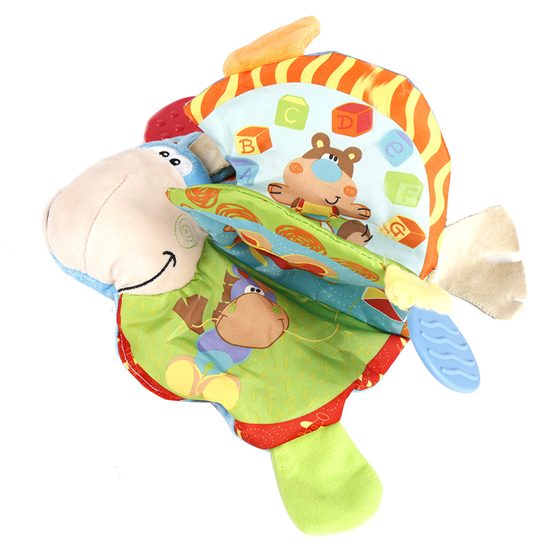 Baby Toy Infant animal book Toys cloth Dolls kids Development Learning Educational toys for children baby Rattles toy WJ087 push along walking toy wooden animal patterns funny kids children baby walker toys duckling dog cat development eduacational toy