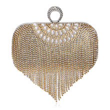 Fashion exquisite tassel women evening bag ladies handbag luxury banquet dinner bag handbags bride dress bag wedding party purse