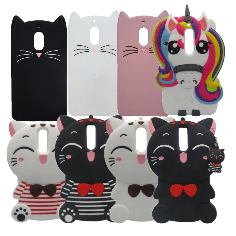 Cartoon Cat Unicorn Case For Nokia 6 Cover Horse Coque For Nokia 3 Soft Silicone Back Cover For Nokia 5 Nokia8 1 2 Phone Fundas