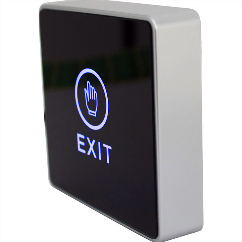 FREE SHIPPING Infrared Contactless Bule Backlight Touch Exit Button\Door Release Switch for Access Control Electronic Door Lock diysecur infrared contactless bule backlight touch exit button door release switch for access control free shipping