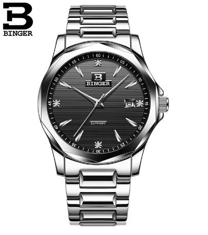 Binger en's Casual Sport Quartz Watch Mens Watches Top Brand Luxury Quartz-Watch Leather Military Watch Wrist Male Clock mens watch top luxury brand fashion hollow clock male casual sport wristwatch men pirate skull style quartz watch reloj homber