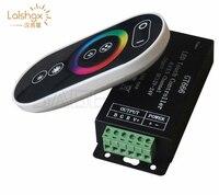 Hurtownie 1 sztuk DC12 24V 6Ax3channel RBG kontroler GT666 dotykowy kontroler led dla 5050 listwy rgb led światła darmowa wysyłka w Kontrolery RGB od Lampy i oświetlenie na