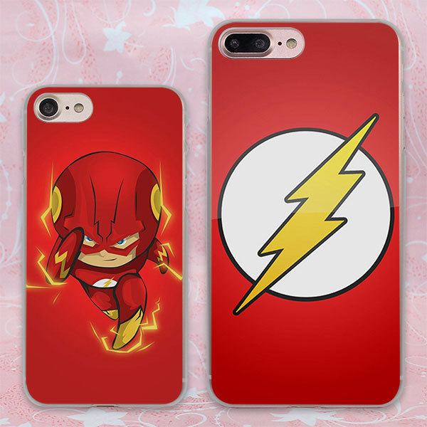 Comic Book Collages flash man logo design  phone case for Apple iPhone 7 6 6s Plus SE 4s 5 5s 5c