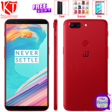 Original Oneplus 5T Mobile Phone 128GB 18:9 Full Screen Snapdragon 835 8GB RAM 6.01″ Android 7.1 Dual Rear Camera 20+16MP Phone