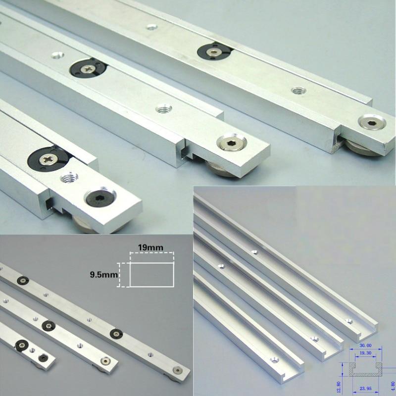 Aluminium legierung T-tracks Slot Gehrung Track Und Gehrung Bar Slider Tabelle Sah Gehrung Gauge Stange Holzbearbeitung Werkzeuge DIY