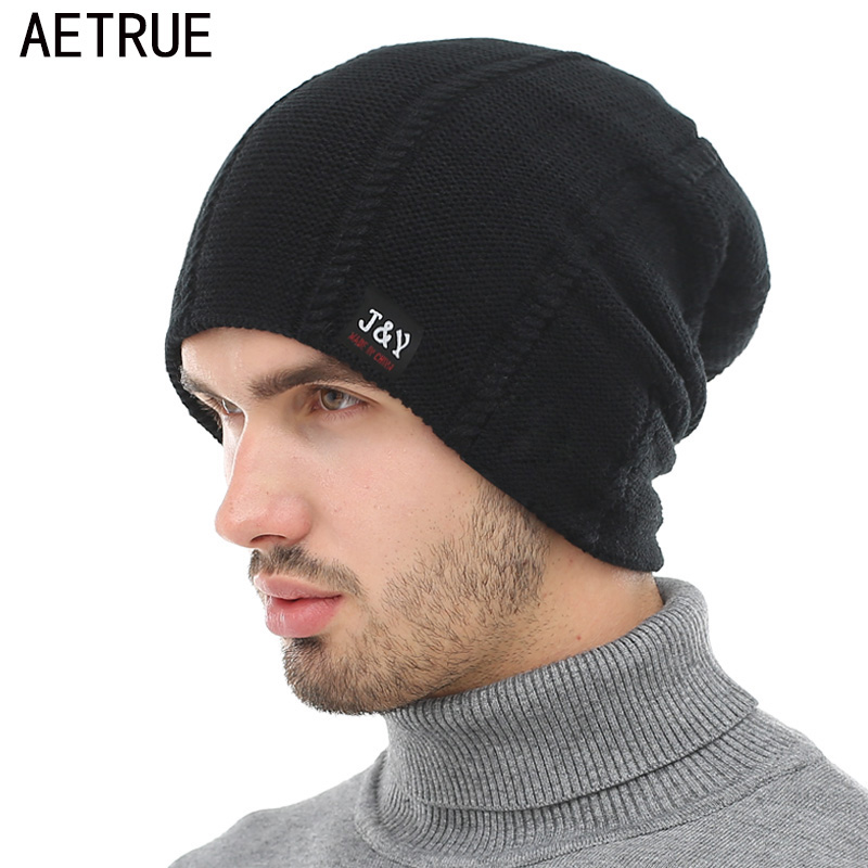 AETRUE Beanie Knit Winter Hat Skullies Beanies Men Caps Warm Baggy Mask New Fashion Brand Winter Hats For Men Women Knitted Hat