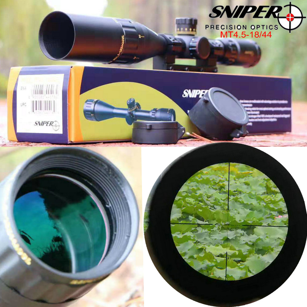 SNIPER MT4.5-18X44 Hunting Riflescopes Tactical Optical Sight Locked Type Hunting Trail Rifles Scope Sight with mount ringsSNIPER MT4.5-18X44 Hunting Riflescopes Tactical Optical Sight Locked Type Hunting Trail Rifles Scope Sight with mount rings