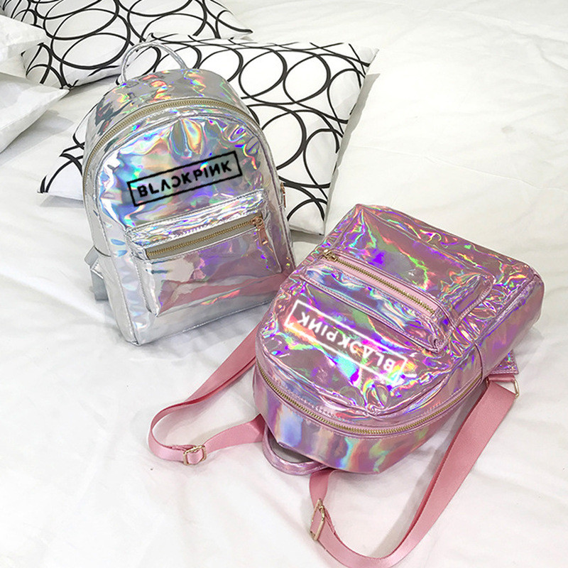 Youpop KPOP BLACKPINK Album Laser PU Bag Jewelry Admission Package New Fashion Backpack Bags SJB618 peterson s best college admission essays