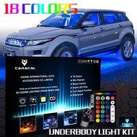 ALL COLOR 10pcs LED Neon Strip Under Car Glow Light Strip Undercar Underbody Underglow Kit