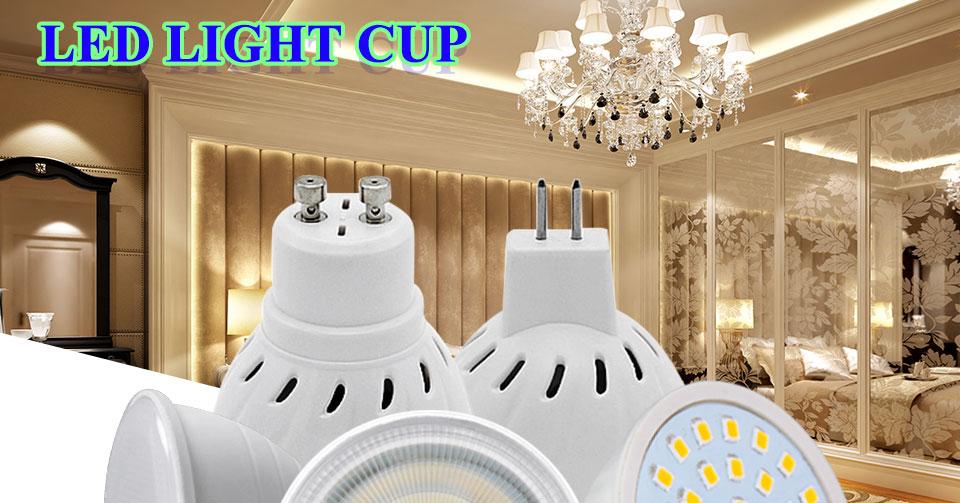 GU5.3 GU10 MR16 220V Lampada LED Spotlight 4W 5W 6W 7W 8W LED Lamp Light LED Bulb Table Downlight Ceiling Light Warm White Lamp (1)