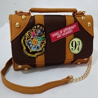 New 2017 Harry Potter Hogwarts Handbags PU School Badge Wallet Package Collectibles Shoulder Bag Brands Women