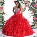 Frete Grátis Faísca Cristais Sweet 16 Dresses vestido de Baile Querida Vestidos Quinceanera Baratos 2017 Novas Vestes de Quinceanera