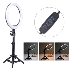 Image 4 - Dimmable 13 inches 45W LED SMD 5500K Ring Light Kit with Bag, Filter Set, Extended Mini Ball Head, Cellphone Holder, Light Stand