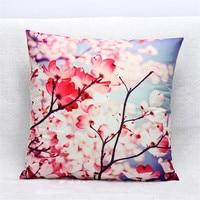New Vintage 45x45cm Decorative Cushion Cover Microsoft 3d Printing Plum Flower Sofa Throw Pillow Cover Sofa