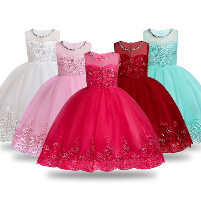 4492e759417a Summer Flower Girl Dress Ball Gowns Kids Dresses For Girls Party Princess  Girl Clothes For 3