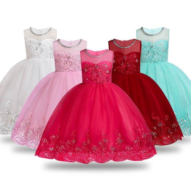 Online Shop Summer Flower Girl Dress Ball Gowns Kids Dresses For