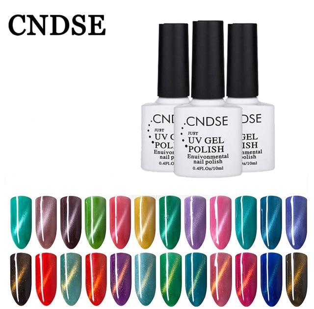 Cndse Esmaltes gel de uñas 72 color más nuevo gel magnético gel de ...