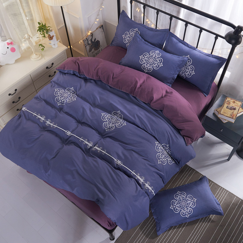 New Fashion 4pcs Bedding Sets Kids Child Bed Linen 1.5m 1.8m 2m Duvet Cover Bed sheet Pillowcase King Twin Full Queen Bedclothes