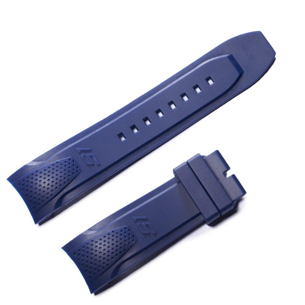 Récif tigre/RT hommes Sport bracelet de montre noir Orange vert caoutchouc bracelet de montre en caoutchouc bleu avec boucle RGA3063