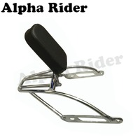 Motorcycle Luggage Support Bracket Holder W Detachable Backrest Rack Sissy Bar For Harley Street 500 XG500