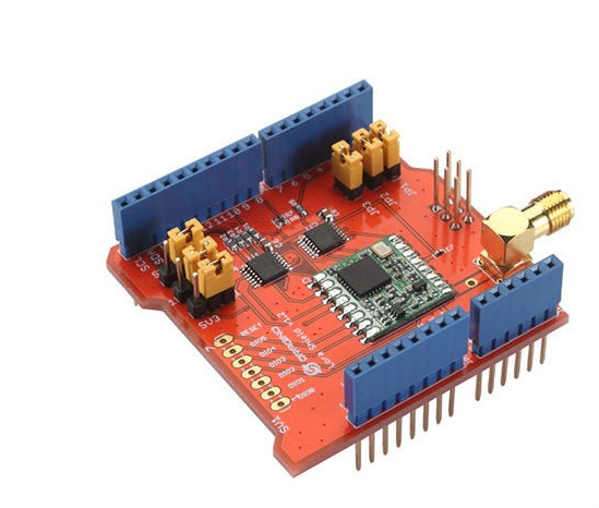 Rapide Bateau Libre 868 MHZ/433 MHZ longue Portée Émetteur-Récepteur pour Arduino ShieldBased sur RFM95W LoRa Bouclier (Soutien 868 M fréquence)
