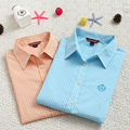 2017 New Summer Autumn Women Blouse Casual Small Plaid Shirt Long Sleeve Cotton Shirts Women Shirts Tops