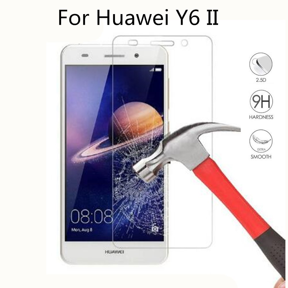 9H Tempered Glass For Huawei Y6 II 2016 CAM-L32 L21 L03 L23 5.5inch Screen Protector Protective Film For Huawei Y6 II 2