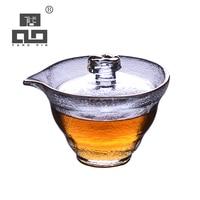 Tangpin vidro resistente ao calor gaiwan bule de vidro haiwan chá chá conjuntos 90ml
