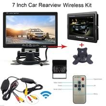 12 / 24V Car IR Rear View Wireless Backup Camera Kit + 7″ TFT LCD Monitor for Truck / Van