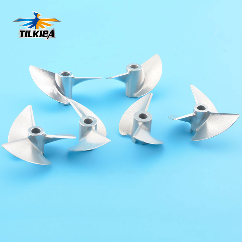 High Quality D36mm Rc 4mm Propeller CNC Machined 2/3 Blades Prop Alloy Propeller/Screw For 4mm Shaft Rc Boat
