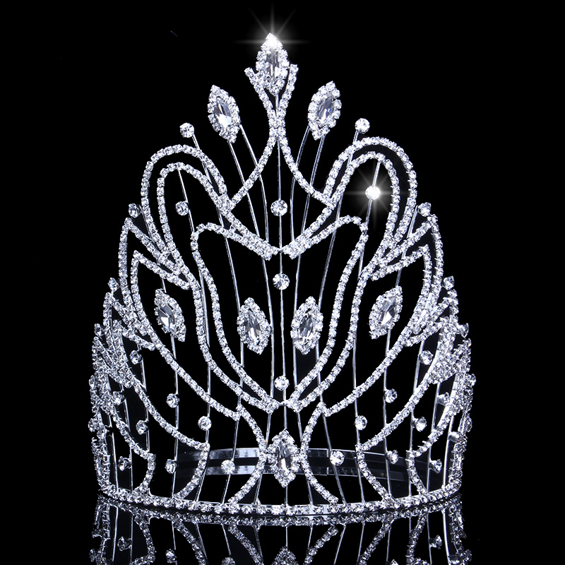 21 cm Altezza Diademi e Corone per Concorsi di Miss Universo 8.3in Corona Strass Enorme Impianto di Tendenza Tiara Wedding Accessori per Capelli21 cm Altezza Diademi e Corone per Concorsi di Miss Universo 8.3in Corona Strass Enorme Impianto di Tendenza Tiara Wedding Accessori per Capelli