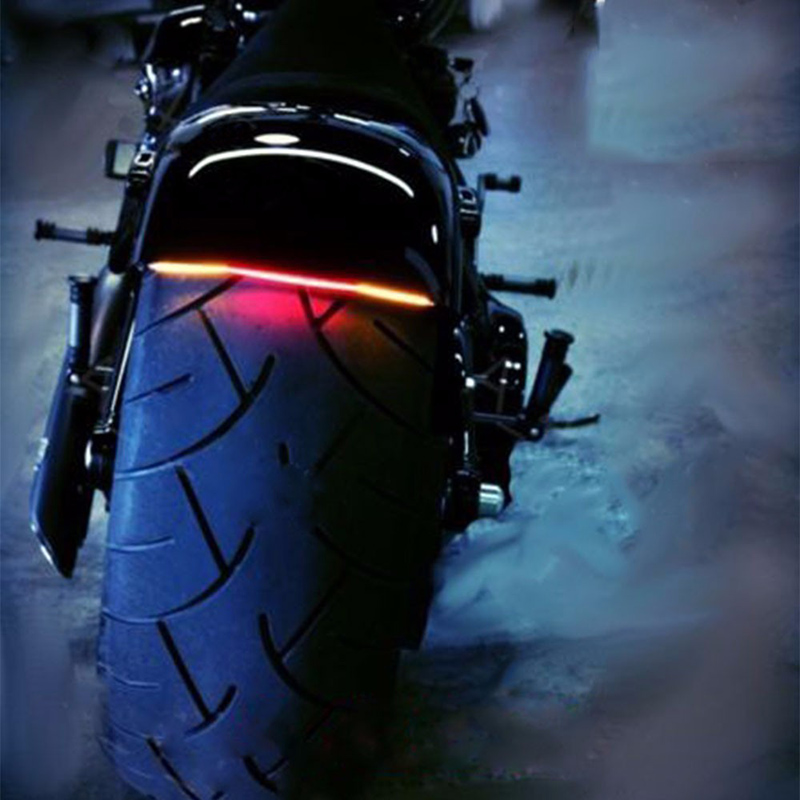 Universal Motorcycle Light Refit Tail Brake Stop Turn Signal Lights Integrated 2835 Pasted LED Light Strip Accessories