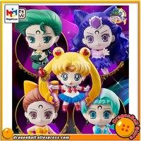 Japanese Anime Pretty Guardian Sailor Moon Original MegaHouse Petit Chara Figurine Action Figure Ayakashi no Yonshimai Hen