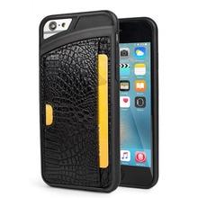 Luxury Crocodile Skin PU Leather Phone case For iPhone 6 6s Plus 7 7Plus Wallet Leather Cover Case For iPhone 6 S 7 Plus Case  стоимость