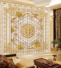 European Luxury Curtains Modern Fashion Beautiful Window Decoration Curtain  Bedroom Curtain Photo Curtain Fabric
