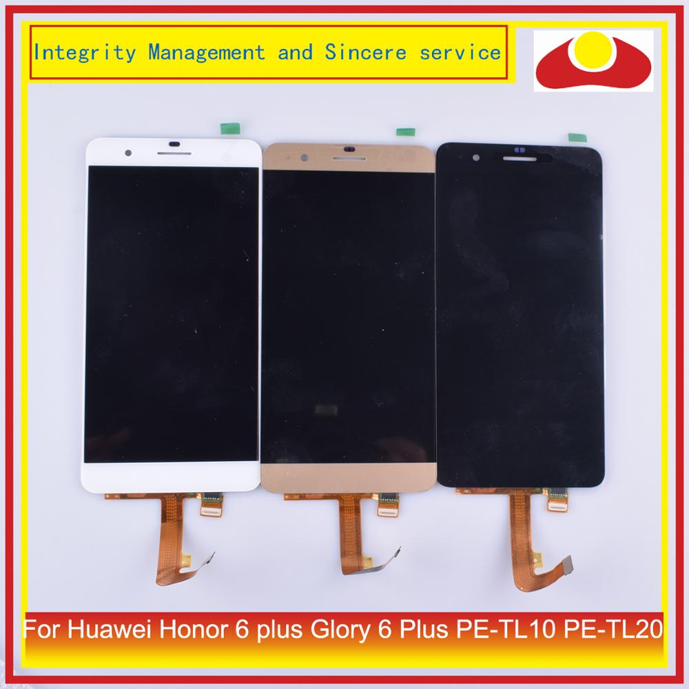 ORIGINAL Para Huawei Honor Glória 6 mais LCD 6 Plus PE-TL10 PE-TL20 Display LCD Com Tela de Toque Digitador Assembléia Completa