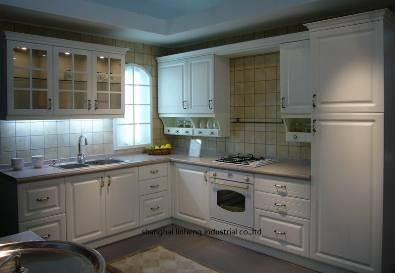 PVC/vinyl kitchen cabinet(LH-PV020)PVC/vinyl kitchen cabinet(LH-PV020)