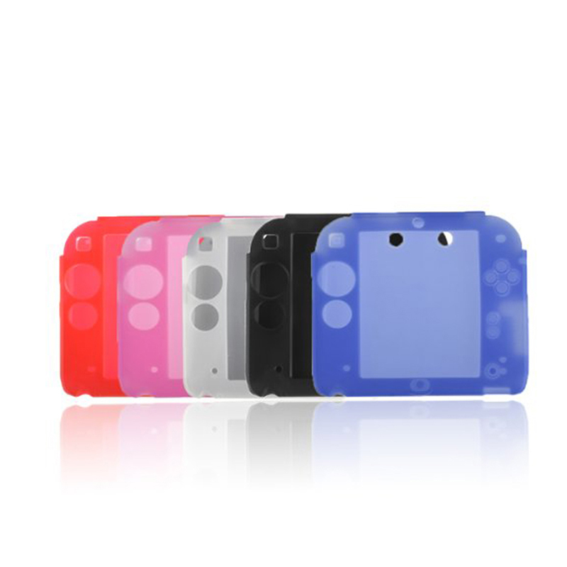 Silicone Case Cover for Nintendo 2DS Ultra Thin Soft Rubber Silicone Cover for 2DS Accessories Gel Protective Case skin 5 Colors