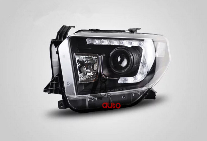 car styling Bi-Xenon Projector Headlights With LED DRL For Toyota Tundra 2014 head lamp
