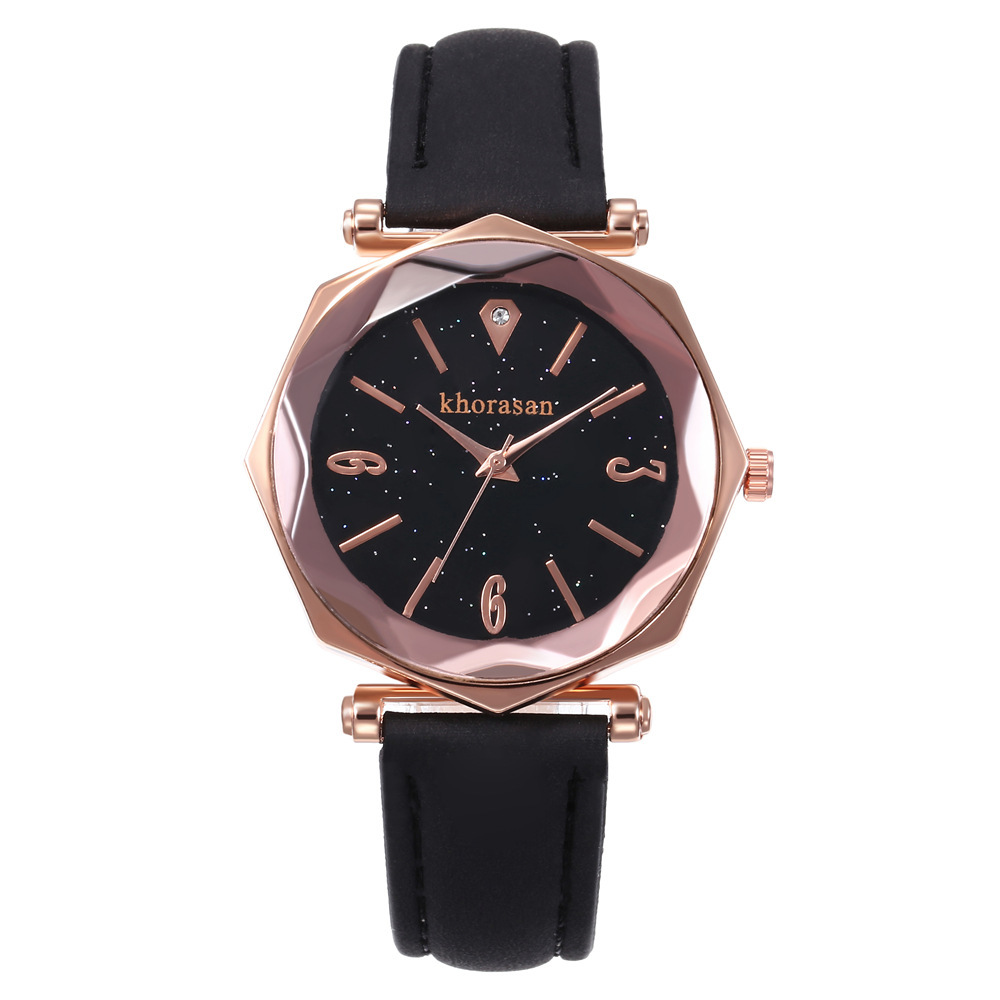 New Explosion Hot Selling Star Creative Octagonal Fashion Ladies Watch Student Fashion Simple Quartz Watch Women