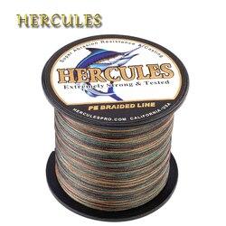 Hercules karpia 8 nici polietylenowa żyłka wędkarska pleciona 100M 300M 500M 1000M 1500M 2000M Pesca ze słoną wodą splot wędkarskie Camo przewód