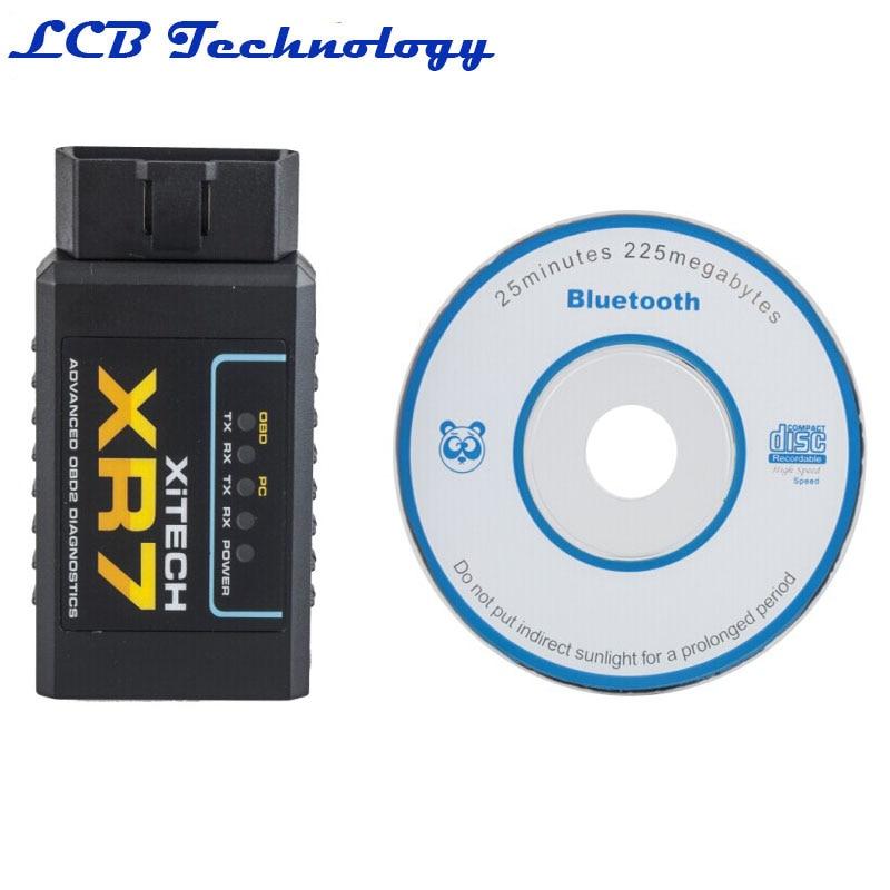 Free Shipping! XR7 ELM327 Bluetooth OBD-II 2 Advanced Diagnostic Car Scanner Tool ME3L Hight Quality free shipping xr 1020cn xr 1020acn xr1020cn filter double pin porcelain dip ic