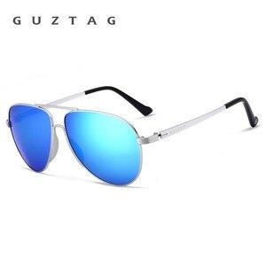 Image 3 - GUZTAG gafas de sol clásicas para hombre y mujer, lentes de sol de aluminio de gran tamaño, polarizadas, con protección UV400, G8005