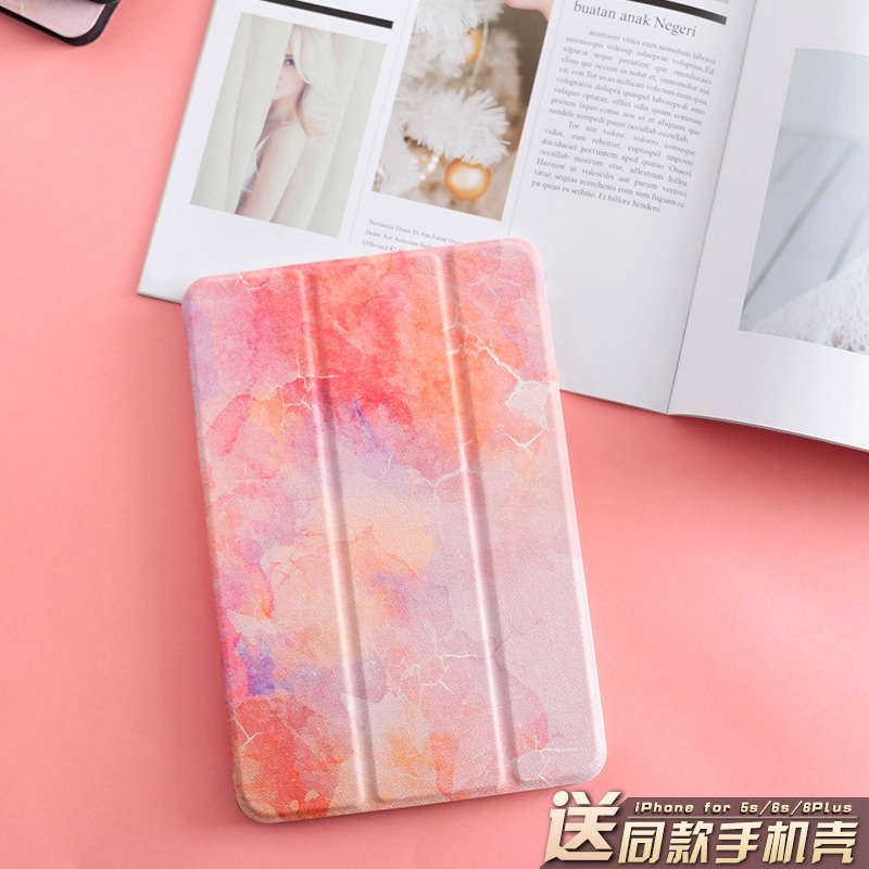 Orange Marble Magnet PU Leather Case Flip Cover For iPad Pro 9.7 10.5 Air Air2 Mini 1 2 3 4 Tablet Case For New ipad 9.7 2017 mimiatrend tige for apple ipad air 1 2 air2 flip pu leather case smart cover for new ipad 9 7 2017 tablet case for ipad pro 9 7